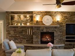 image of modern decorate fireplace mantel
