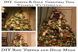 How to decorate a Christmas Tree, DIY Bow Topper and Deco Mesh Tutorial -  YouTube