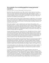personal narrative essay how to write structure of a personal narrative essay