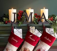 Christmas Stocking Hangers For Fireplace Stunning Alphabet Holders Pottery  Barn Home Design Ideas 7