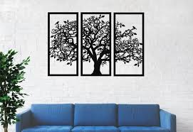 panels metal tree wall art tree
