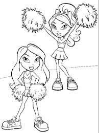 Small Picture Bratz Cheerleading Coloring Pages Free Coloring Pages 11939