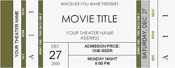 Admit One Ticket Template Free New Ticket Stub Template Gallery Fake Movie Ticket Template Download