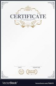 Stock Certificate Template Stock Certificate Template Royalty Free Vector Image
