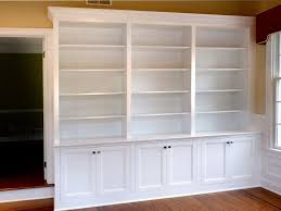 custom made home office built in bookcases
