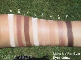 make up for ever mufe eyeshadow swatches 35 129 17