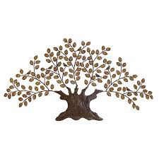>shop woodland imports 75 in w x 41 in h frameless metal tree 3d wall  woodland imports 75 in w x 41 in h frameless metal tree 3d wall