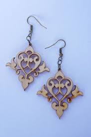 items similar to filigree laser cut wood earrings vine women jewelry s agers fasion on etsy