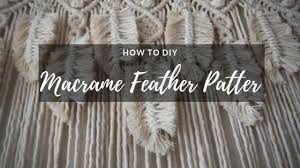 how to diy feather pattern macrame wall