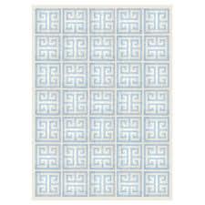 light blue greek key reversible peruvian flat weave rug alt image 1