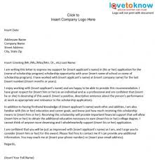 letter for recommendation sample scholarship recommendation letter