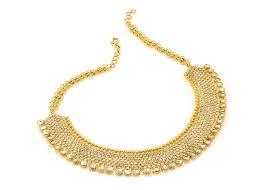 22k gold uncut diamond necklace set