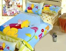 winnie the pooh sheets cute cartoon set the pooh queen bedding set cotton kids boys bedspread winnie the pooh sheets