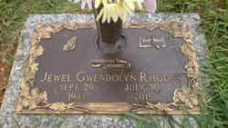 """Jewell Gwendolyn """"Judy"""" Rhodes (1933-2015) - Find A Grave Memorial"""