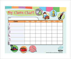 Weekly Chore Chart Template For Kids 13 Sample Weekly Chore Chart Templates Free Sample