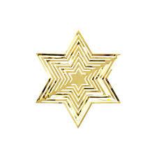 Weihnachtsstern 3d Stern Anhänger Metall Hängedeko Deko Für Weihnachten Weihnachtsdeko Gold