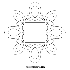 mirror frame drawing. Printable Scroll Saw Frame PDF Template Mirror Frame Drawing N