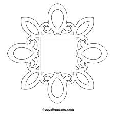 printable scroll saw frame pdf template