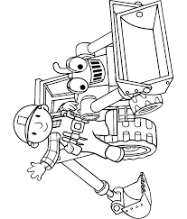 Small Picture Bob the builder and Scoop coloring page