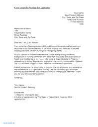 Application Letter For Nurses Fresh Graduate New Graduate Nurse