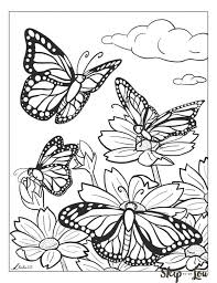 Nine free printable butterfly coloring pages that include five sets of small butterflies and four large butterflies. Free Printable Butterfly Coloring Page Butterfly Coloring Page Flower Coloring Pages Butterfly Printable