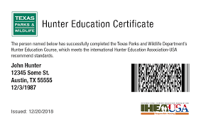 What Is Course Completion Certificate Tpwd Approved Hunter Safety Course Online