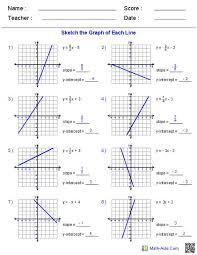 algebra 1 slope intercept form worksheet 1 luxury slope intercept form worksheet answer key kidz activities