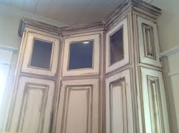White Antique Kitchen Cabinets Distressed Black Kitchen Cabinets Kitchen Traditional With