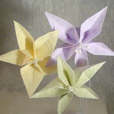 Paper Folded Flower Origami Flower Bouquets And Origami Flower Garlands Paper