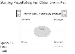 Vocab Building Worksheets Building Vocabulary For Older Students Speech Time Fun