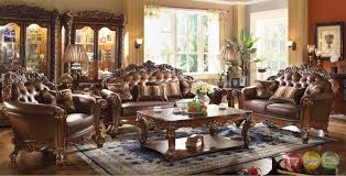 Classic Vendome Traditional Dark Wood Formal Living Room Sets W Carved Wood Accents Cridla Vendome Traditional Dark Wood Formal Living Room Sets W Carved Wood