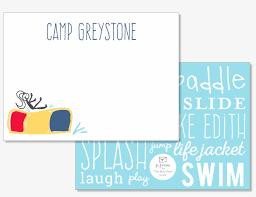 Picture Of Waterpark Flat Note Card Set Musical Note Png
