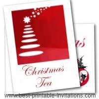 Christmas Tea Party Invitations Printable Christmas Party Invitations