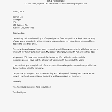 Best Resignation Letter Format Pdf Professional Sample For Personal