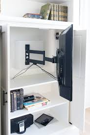 hide tv furniture. Hidden Tv Cabinet Built-ins. How To Hide Your On A Swivel Mounted Arm. It Away When Not In Use, But Pivots Out For The Whole Room See. Furniture E