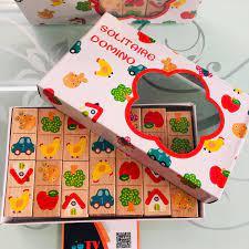 HCM]Bộ đồ chơi xếp hình Domino bằng gỗ cho bé | Trò chơi xếp hiệu ứng Domino  100 số đếm và phép toán | Đồ chơi gỗ giáo dục cho bé