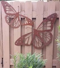 outdoor metal wall art natural steel