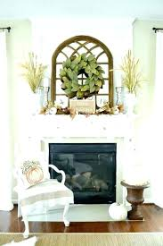 above fireplace ideas decor mirror mantel home