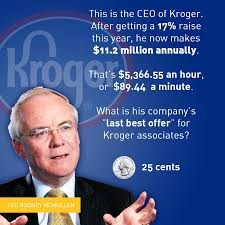 kroger s top executives get millions while workers get quarters 20160514 kroger ceo pay raise
