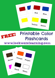 Printable Flashcards: Colors - Look! We're Learning!