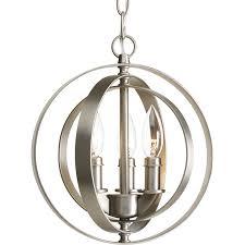 progress lighting equinox 10 12 in burnished silver single orb pendant
