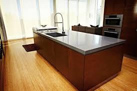 caesarstone quartz concrete kitchen island countertop contemporary kitchen seattle