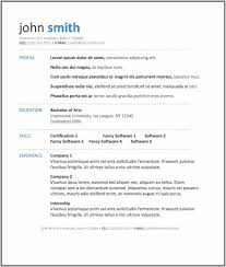 Resume Format For Fresher Free Download In Ms Word 2007 Resume