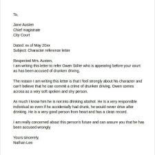 Character Letter For Court Template Character Reference Letter For Court Template Great Format Writing 23