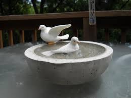 concrete birdbath