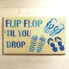 flip flop door mat til you drop doormat blue how to make recycled