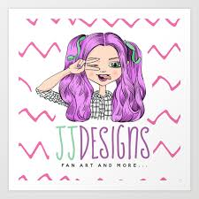 Jj Designs Jj Designs Logo Art Print