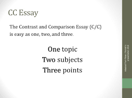 compare contrast a simple paragraph essay nataly rodriguez cc essay the contrast and comparison essay c c is easy as one