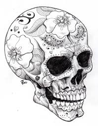 Small Picture Sugar Skulls Coloring Pages Printable Coloring Pages coloring