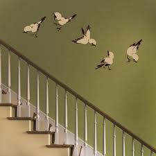 printed bird wall decal set wall